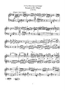 Sonata for Piano No.59 in E Flat Major, Hob.XVI/49: For a single performer by Joseph Haydn