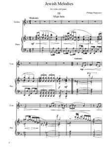 Jewish Melodies, Op.59: No.3 by Philipp Degtyarev