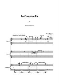 La Campanella - 1 piano 6 hands: La Campanella - 1 piano 6 hands by Niccolò Paganini