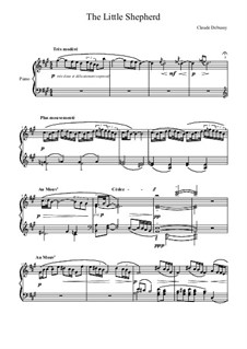 No.5 The Little Shepherd: For piano by Claude Debussy