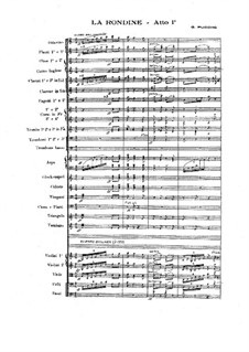 La Rondine: Full score by Giacomo Puccini