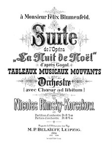 Christmas Eve. Suite: Full score by Nikolai Rimsky-Korsakov