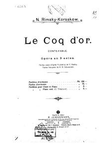 The Golden Cockerel. Opera: Full score by Nikolai Rimsky-Korsakov