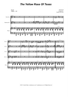 The Yellow Rose of Texas: For saxophone quartet and piano by folklore