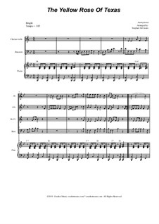 The Yellow Rose of Texas: For woodwind quartet and piano by folklore