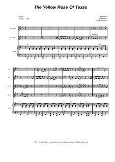 The Yellow Rose of Texas: For flute choir and piano by folklore