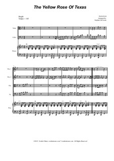 The Yellow Rose of Texas: For string quartet and piano by folklore