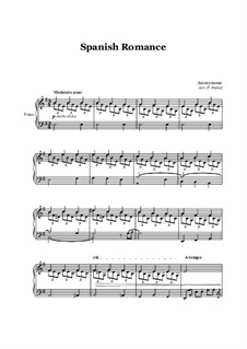 Spanish Romance - piano solo: Spanish Romance - piano solo by Unknown (works before 1850)