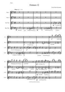 Ostinato 12: For flute quartet by David W Solomons