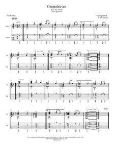 Vocal-instrumental version: For guitar by folklore