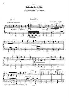 Hungarian Dances for Piano Four Hands, Op.31: Book II by Béla Kéler