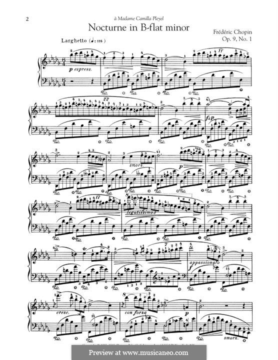 No.1 in B Flat Minor: For piano by Frédéric Chopin