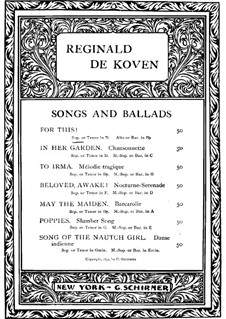For This: For This by Reginald De Koven