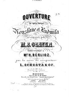 Overture: Full score by Mikhail Glinka