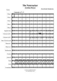 No.5 Arabian Dance: For full orchestra by Pyotr Tchaikovsky