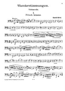 String Trio 'Wanderstimmungen': Cello part by Oswald Körte