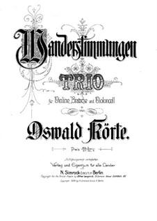 String Trio 'Wanderstimmungen': Full score by Oswald Körte