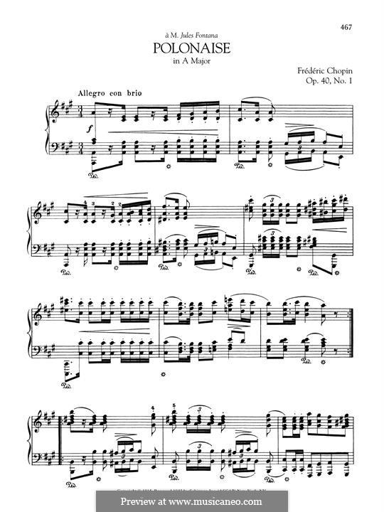 Polonaises, Op.40: No.1 A Major by Frédéric Chopin