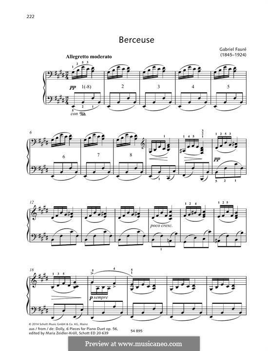 Dolly Suite, Op.56: No.1 Berceuse by Gabriel Fauré