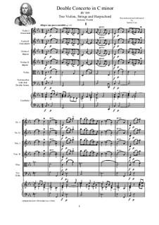 Concerto for Two Violins and Strings in C Minor, RV 509: Score, parts by Antonio Vivaldi