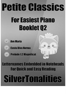 Petite Classics for Easiest Piano Booklet Q2: Petite Classics for Easiest Piano Booklet Q2 by Franz Schubert, Johann Pachelbel, Vincenzo Bellini