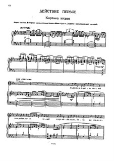 The Demon: Act I, Scenes II-III, for voices and piano by Anton Rubinstein