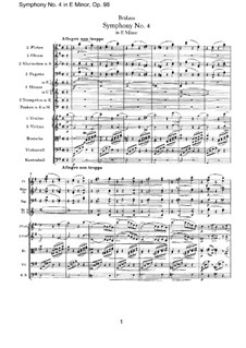 Complete set: Full score by Johannes Brahms