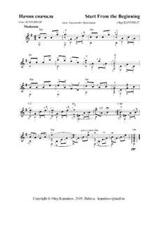 Начни сначала: Для гитары, Op.28 by Oleg Kopenkov
