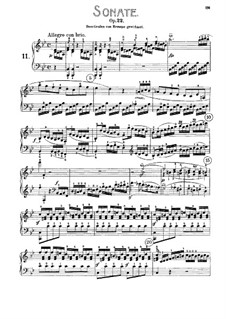 Sonata for Piano No.11, Op.22: For a single performer by Ludwig van Beethoven