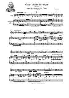Concerto for Oboe and Strings in F Major, RV 455: Version for oboe and harpsichord (or piano) by Antonio Vivaldi