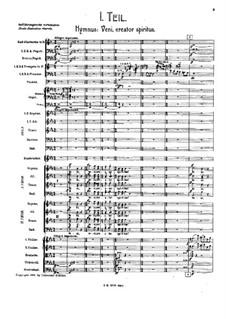Symphony No.8 in E Flat Major: Movement I – score by Gustav Mahler