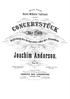 Concert Piece No.1 for Flute and Orchestra (or Piano), Op.3: Parts by Joachim Andersen