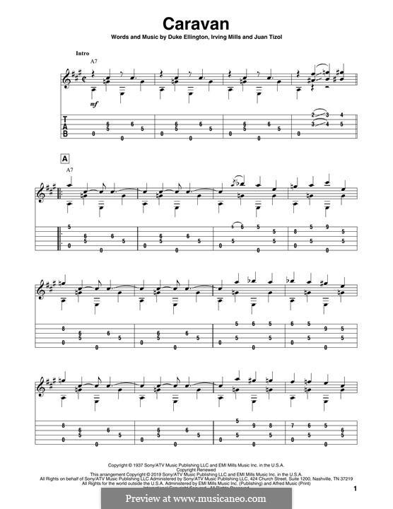 Caravan (Les Paul): For guitar by Irving Mills, Duke Ellington, Juan Tizol