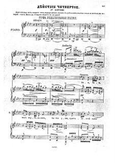 Dream on the Volga, Op.16: Act IV, piano-vocal score by Anton Arensky