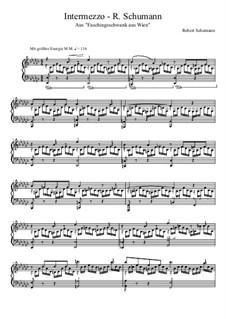 Carnival Jest from Vienna, Op.26: No.4 Intermezzo by Robert Schumann