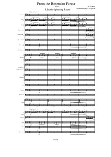 From the Bohemian Forest, B.133 Op.68: No.1 In the Spinning Room, for symphonic orchestra by Antonín Dvořák