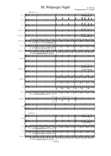 From the Bohemian Forest, B.133 Op.68: No.3 Walpurgis Night, for symphonic orchestra by Antonín Dvořák