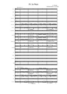 From the Bohemian Forest, B.133 Op.68: No.4 In Wait, for symphonic orchestra by Antonín Dvořák