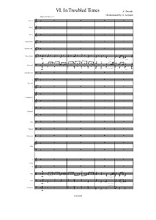 From the Bohemian Forest, B.133 Op.68: No.6 In Troubled Times, for symphonic orchestra by Antonín Dvořák