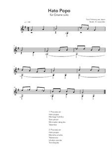 Hato Popo - G Major (for guitar solo): Hato Popo - G Major (for guitar solo) by folklore