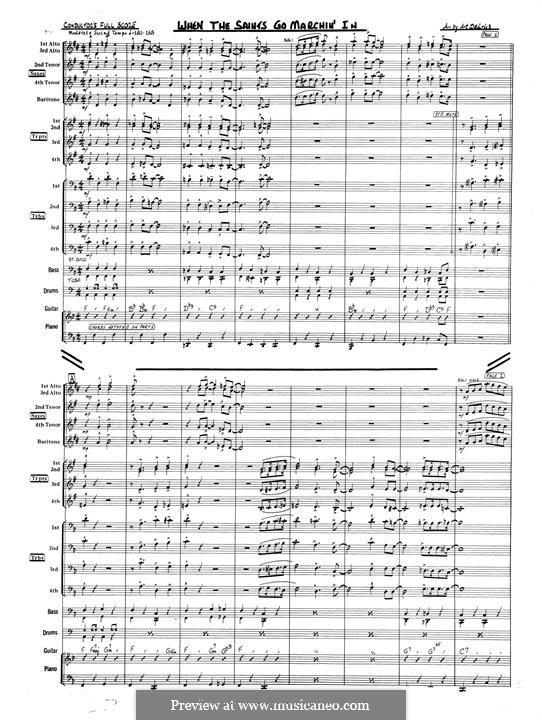 When the Saints Go Marching In: Full score (Art Dedrick) by James Milton Black
