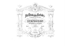 Symphonies No.3, 4, Op.56, 90: For piano four hands by Felix Mendelssohn-Bartholdy