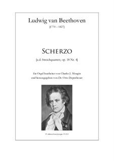 Quartet No.4 in C Minor: Scherzo C-dur by Ludwig van Beethoven