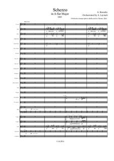 Scherzo in A Flat Major: For symphonic orchestra – score only by Alexander Borodin