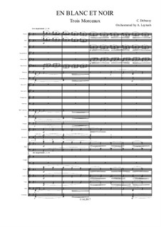 En blanc et noir (In Black and White), L.134: For symphonic orchestra – score and parts by Claude Debussy