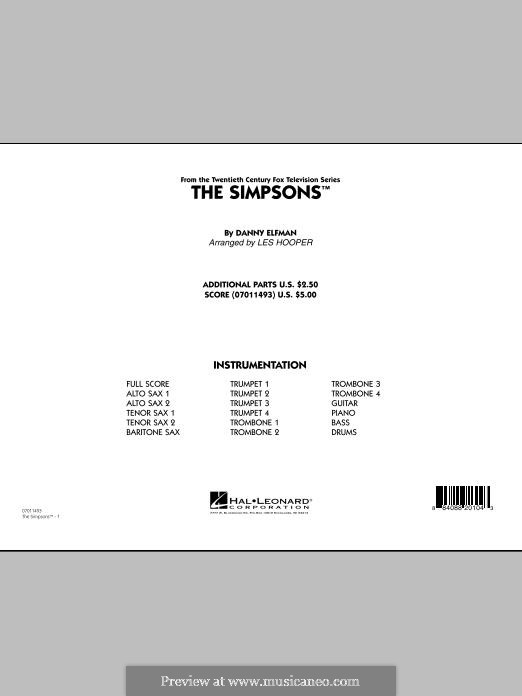 The Simpsons: Conductor score (full score) by Danny Elfman