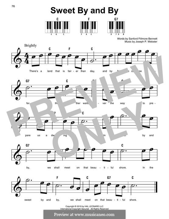 Sweet By and By: For piano by Joseph Philbrick Webster