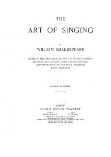 The Art of Singing: Movements I-II by William Shakespeare (tenor)