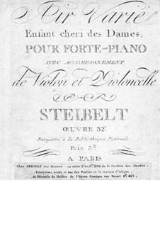 Air varié 'Enfant cheri des Dames', Op.32: Piano part by Daniel Steibelt
