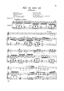 Otto, King of Germany, HWV 15: Ah! Tu non sai, Low Voice by Georg Friedrich Händel
